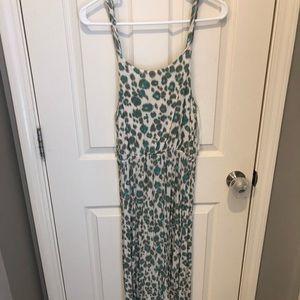 Loft leopard print maxi dress